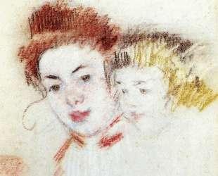 Эскиз для «Рене и дитя» — Мэри Кассат
