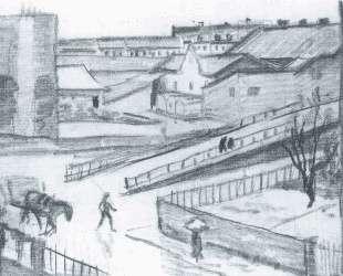 Sketch of the bridge — Август Маке
