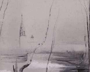Эскиз к картине грачи прилетели — Алексей Саврасов