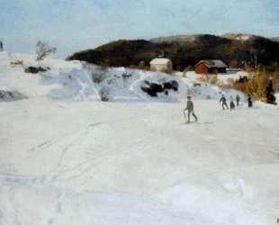 Skiers — Фриц Таулов
