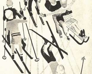 На лыжах. Журнал 'Искорка' — Александр Дейнека
