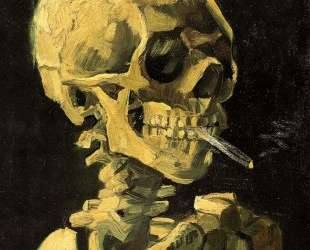 Skull with Burning Cigarette — Винсент Ван Гог
