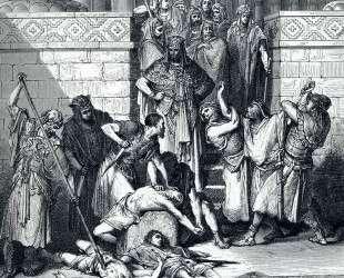 Убиение сыновей Седекии перед их отцом — Гюстав Доре