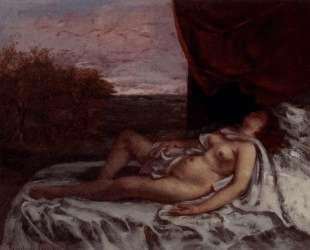 Спящая обнаженная — Гюстав Курбе