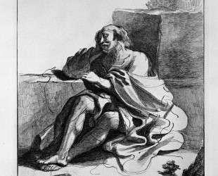 Sleeping old man — Джованни Баттиста Пиранези
