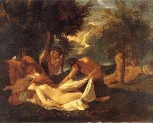Спящая Венера и Сатир — Николя Пуссен