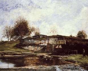 Шлюз в долине Оптево — Шарль-Франсуа Добиньи