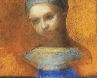 Small Bust Of A Young Girl — Одилон Редон