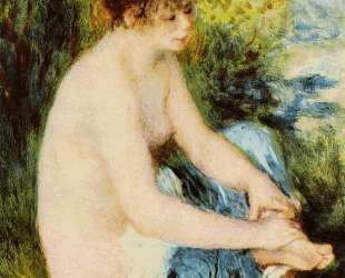 Small Nude in Blue — Пьер Огюст Ренуар