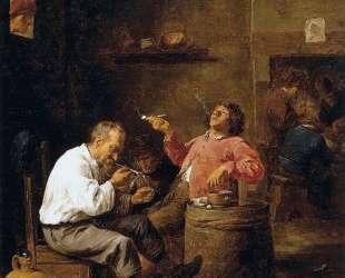Smokers in an Interior — Давид Тенирс Младший