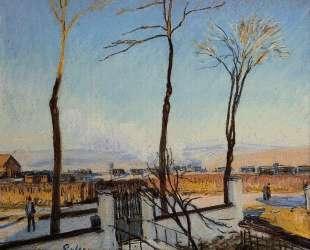 Snow Effect at Moret — Альфред Сислей