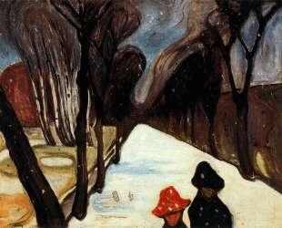 Снег в переулке — Эдвард Мунк