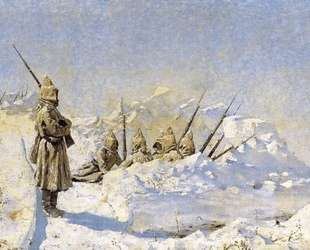 Snowy trenches (Russian position on the Shipka Pass) — Василий Верещагин