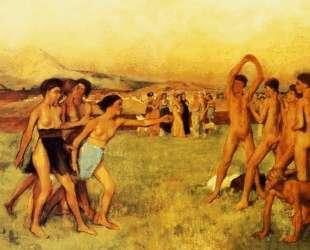 Спартанские девушки вызывают на состязание юношей — Эдгар Дега