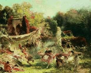 Весенняя вакханалия — Константин Маковский