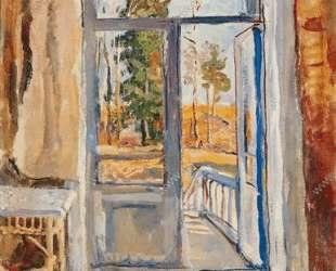Весна. Открытая дверь на балконе. — Пётр Кончаловский