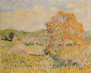 Springtime at Eragny (study) — Камиль Писсарро