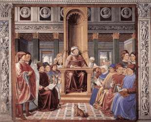 St. Augustine Reading Rhetoric and Philosophy at the School of Rome — Беноццо Гоццоли