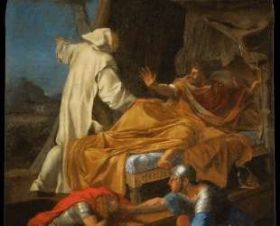 St. Bruno Appearing to Comte Roger — Эсташ Лёсюёр