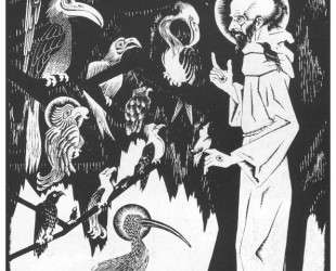 St. Francis preaching to the Birds — Мауриц Корнелис Эшер