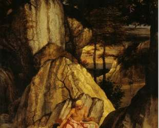 St. Jerome Meditating in the Desert — Лоренцо Лотто