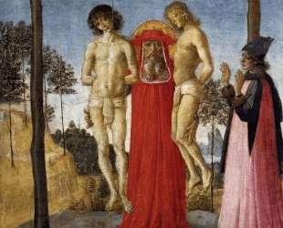Св. Иероним посещает несправедливо повешенных — Пьетро Перуджино