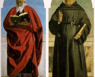 Св. Иоанн Богослов и Св. Николас Толентинский — Пьеро делла Франческа