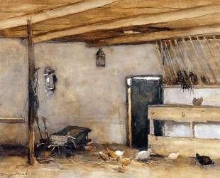 Stable with chickens — Иохан Хендрик Вейсенбрух