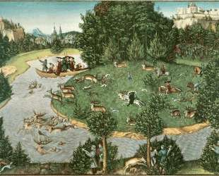 Охота на оленя курфюрста Фридриха III Мудрого — Лукас Кранах Старший