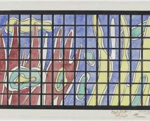 Stained glass artwork for the library at the University of Caracas — Фернан Леже