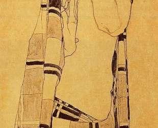 Standing Girl in a Plaid Garment — Эгон Шиле