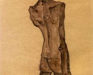 Standing Male Nude, Back View — Эгон Шиле