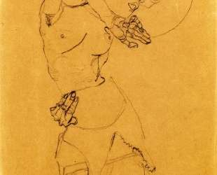 Standing Nude with Large Hat (Gertrude Schiele) — Эгон Шиле