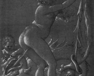 Ведьма и чудовище — Ханс Бальдунг