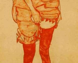 Standing Woman in Red — Эгон Шиле