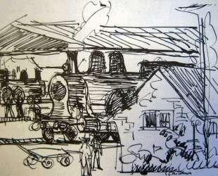 Station in Davos — Эрнст Людвиг Кирхнер