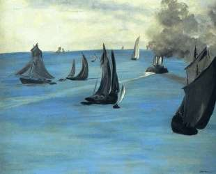 Steamboat leaving Boulogne — Эдуард Мане