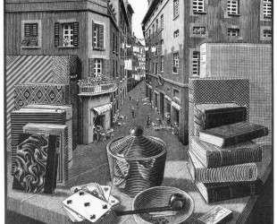Still Life and Street — Мауриц Корнелис Эшер