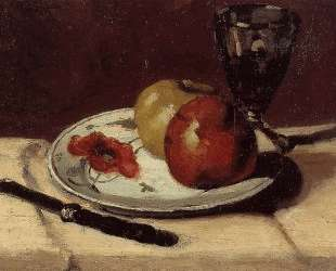 Still Life Apples and a Glass — Поль Сезанн