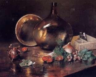 Still Life — Brass and Glass — Уильям Меррит Чейз