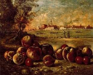 Натюрмотрт в венецианском пейзаже — Джорджо де Кирико