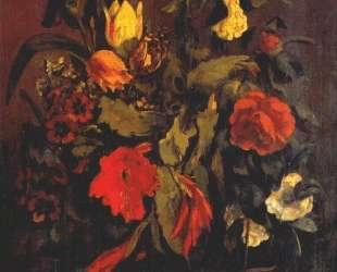 Натюрморт с цветами — Гюстав Курбе