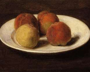 Still Life of Four Peaches — Анри Фантен-Латур