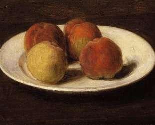 Still Life of Four Peaches — Анри Фантен-Латур
