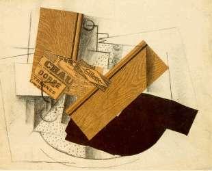 Натюрморт на столе с 'Джиллет' — Жорж Брак