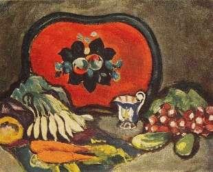 Натюрморт. Поднос и овощи. — Пётр Кончаловский