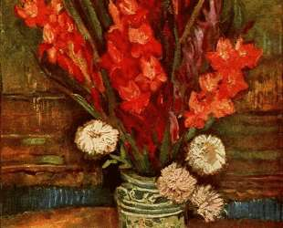 Still LIfe — Vase with Red Gladiolas — Винсент Ван Гог