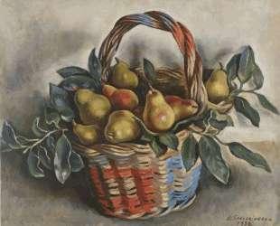 Натюрморт с корзиной груш — Зинаида Серебрякова