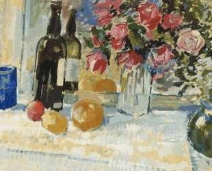 Натюрморт с бутылкой вина — Николай Богданов-Бельский