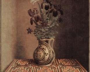 Натюрморт с кувшином цветов (реверс портрета молящегося мужчины) — Ганс Мемлинг